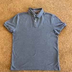 Tommy Hilfiger blue polo shirt